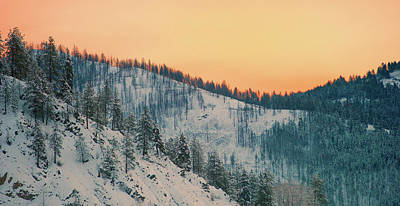 Curated Beach Towels - Winter Mountainscape  by Troy Stapek