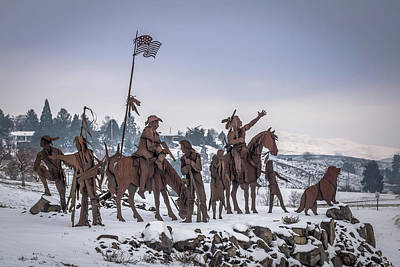 Photograph - Winter Native American Sculpture by Brad Stinson