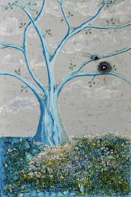 Mixed Media - Winter Nest by Donna Blackhall