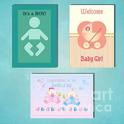Digital Art - Winter New Baby by JH Designs
