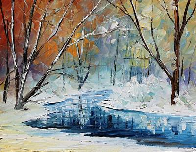 Winter Landscape Painting - Winter New by Leonid Afremov