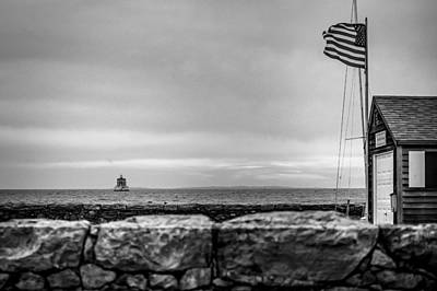 Photograph - Winter New London Ledge Light by Ted Jennings