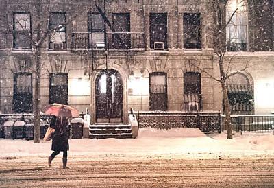 Janus Photograph - Winter - New York City - Snow Falling by Vivienne Gucwa