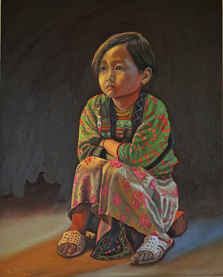Painting - Winter Night by Thu Nguyen