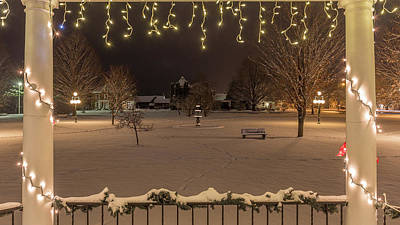 Photograph - Winter Night From The Gazebo by Tim Kirchoff
