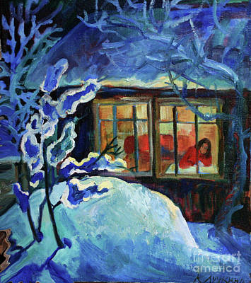 Painting - Winter Night by Katia Weyher