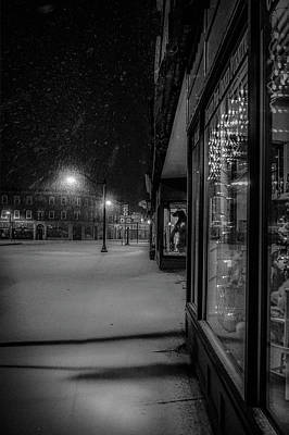 Photograph - Winter Night On Main by Kendall McKernon