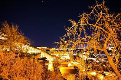 Photograph - Winter Night Shaw Centre by Desmond Raymond