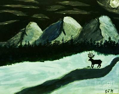 Painting - Winter Night Wanderer by Scott Hervieux