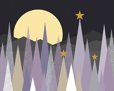 Digital Art - Winter Nights  by Val Arie