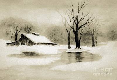 Painting - Winter Nostalgia by Hazel Holland