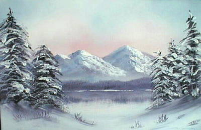 Painting - Winter - O18 by Roger Cummiskey