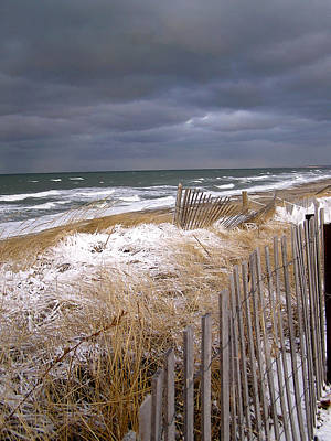 Sand Fences Photograph - Winter On Cape Cod by Charles Harden