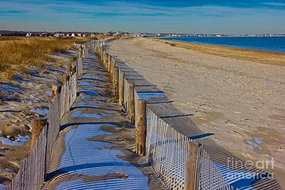 Photograph - Winter On Duxbury Beach by Amazing Jules