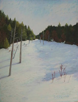 Painting - Winter On Moose Pond by Carol Corliss