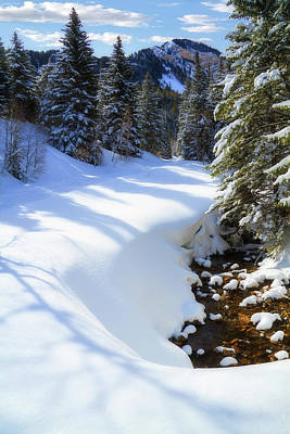 Snowy Mountain Loop Photograph - Winter On Mount Timpanogos by Utah Images