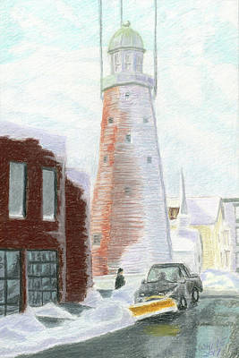 Pastel - Winter On Munjoy Hill by Dominic White