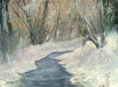 Painting - Winter On Stormcreek by Gail Kirtz