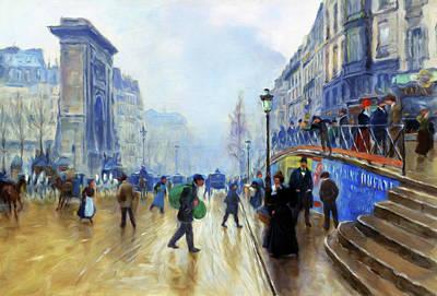 Working Mixed Media - Winter On The Boulevard by Georgiana Romanovna