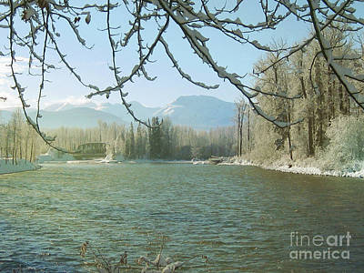 Photograph - Winter On The Bulkley by Anne Havard