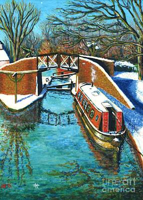 Winter On The Canal Art Print by Bik Erbrom
