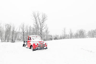 Photograph - Winter On The Farm Etna New Hampshire by Edward Fielding