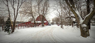 Photograph - Winter On The Farm by Leslie Montgomery