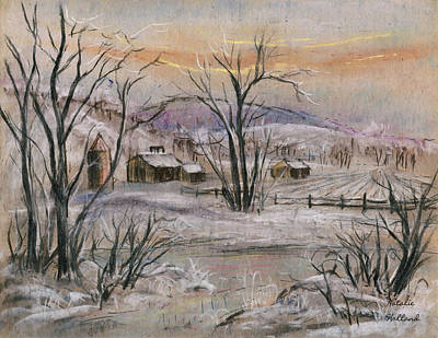 Pastel - Winter On The Farm by Natalie Holland