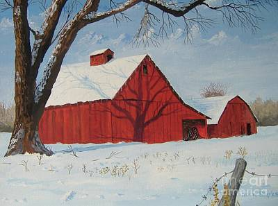 Painting - Winter On The Farm by Norm Starks