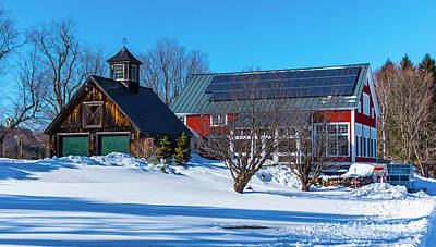 Photograph - Winter On The Farm by Scenic Vermont Photography