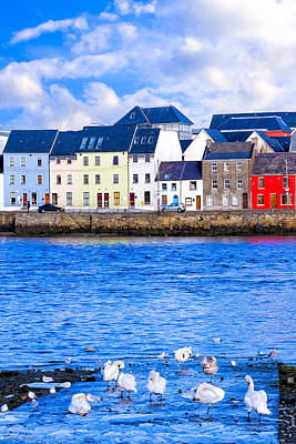 Photograph - Winter On The Galway Waterfront by Mark E Tisdale