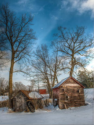 The Old Shed Photograph - Winter On The Homestead by Paul Freidlund