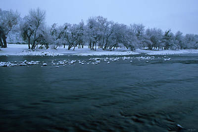 Winter On The Kern River Art Print