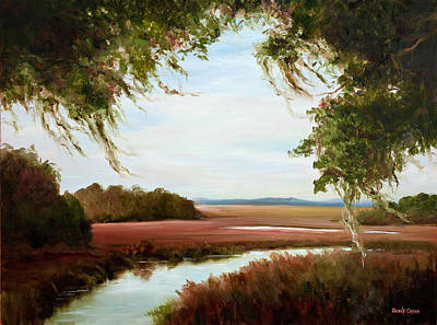 Winter On The Marsh Art Print
