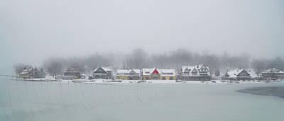 Schuylkill Digital Art - Winter On The Schuylkill - Boathouse Row by Bill Cannon