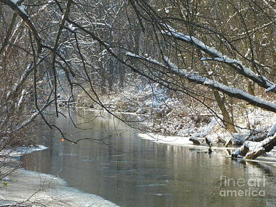 Winter On The Stream Art Print