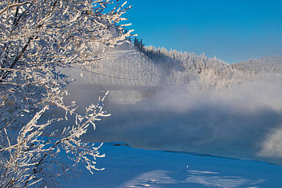 Photograph - Winter On The Tanana - Ice Fog At Big Delta by Cathy Mahnke