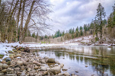 Photograph - Winter On The Tyee River by Spencer McDonald