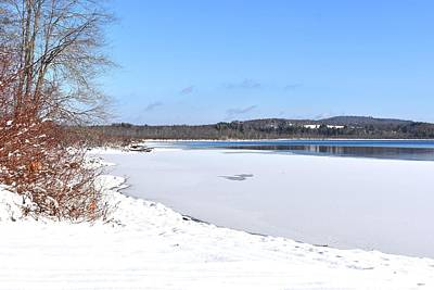 Photograph - Winter On Tyler Lake 1 by Nina Kindred