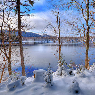 Winter On West Lake Art Print by David Patterson