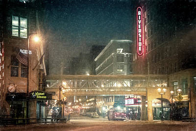 Photograph - Winter On Wisconsin Ave by Joel Witmeyer