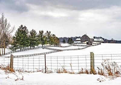 Photograph - Winter Ontario Farm 3 by Steve Harrington