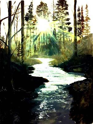 Winter Over Almond Creek Art Print by Travis  Ragan