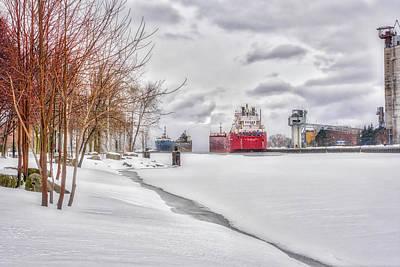 Winter Owen Sound Harbour Art Print by Irwin Seidman