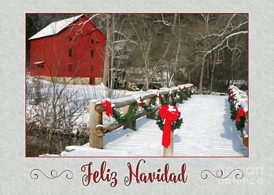 Digital Art - Winter Painting Navidad by JH Designs