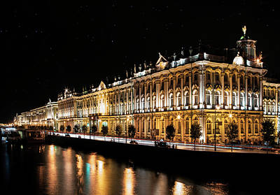 Photograph - Winter Palace In Sankt Petersburg by Jaroslaw Blaminsky