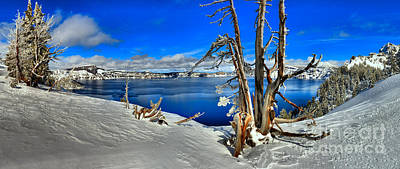 Photograph - Winter Panorama At Crater Lake by Adam Jewell