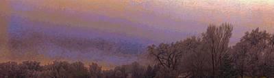 Digital Art - Winter Panorama by Lenore Senior