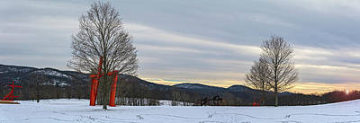 Photograph - Winter Panorama Of Storm King Art Center by Angelo Marcialis