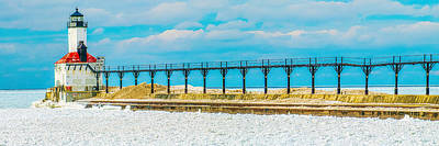 Photograph - Winter Panoramic - St Joseph Light by Nick Zelinsky